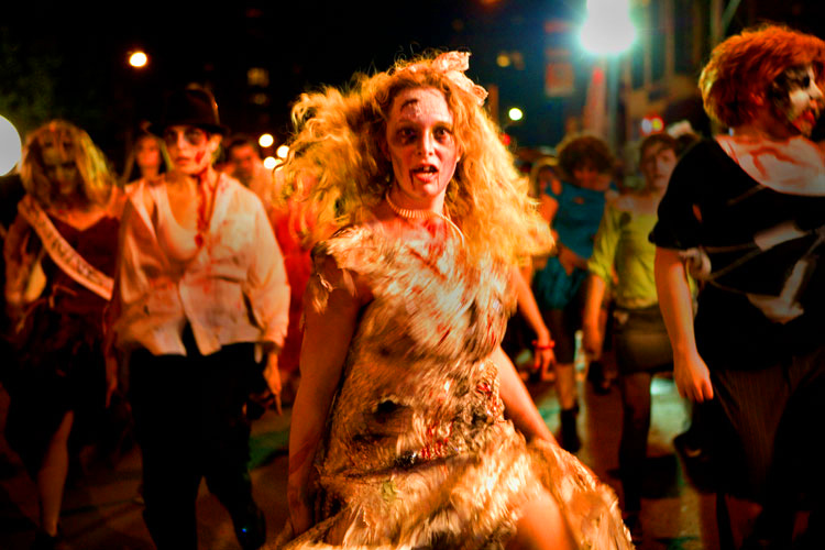 That Girl Zombie Dancer has seen me! : Village Halloween Parade : NYC