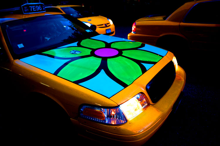 Flower Taxi #2 : 23rd St and 10th Av : NYC