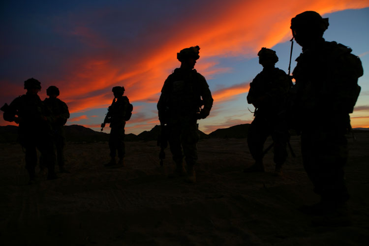 Band of Brothers : US troops in the Desert