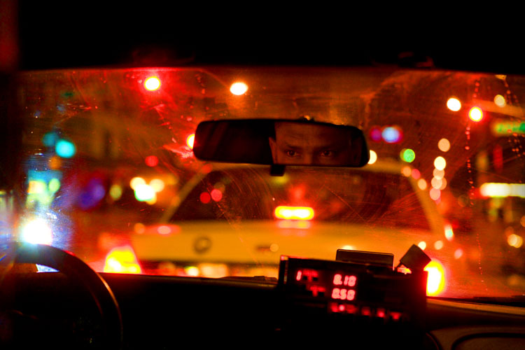Taxi Driver Eyes in the mirror #2 : 23rd St : NYC