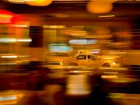 Mad Framed Speed Blur Taxi : 8th Av and 14th St : NYC
