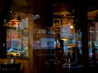 Of Taxis Cafes Composition and Madness : Chelsea Diner 23rd and 9th Av : New York