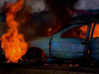 Burning Car : St Helena Highway : Trinidad