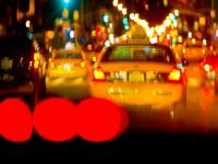 Taxi 2 Taxi  Blur on 10th : 10th Av at around 26th St : NYC