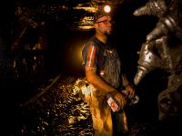 West Virginia Miner at the coal Seam  : Near Charleston : WV