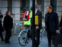 Cyclist and Pedestrians : The City : London