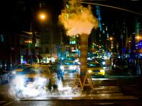 Mad Taxis in Steam : Maddison & 63rd St : New York City