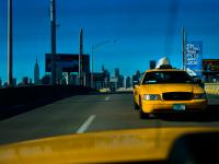 Yellow Cabs and Blue Sky in the Big City : NYC : USA
