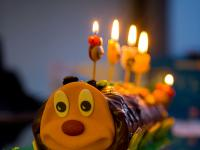 Jez Birthday Caterpillar Cake : London : UK