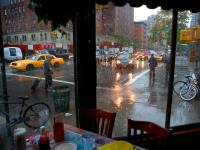 View from the Diner on the Corner of America #2 : Insight Diner / Chelsea Sq : 9th Av & 23rd St : NYC