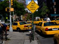 Yellow Two Way Traffic Ahead : West Village : NYC
