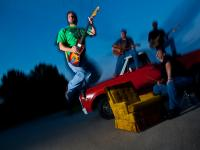 New Guitarist is Lowered into Position : Maize Weeper : Atlanta