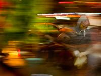 Man Taxi Blur : 23rd and 8th : NYC