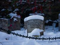 Grave in the Snow : Warwickshire : UK