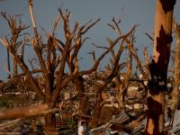 Outcome of Obliteration : Aftermath in Tornado Destruction Zone in Joplin :  Missouri
