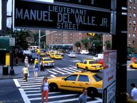 Signs Of Life 9-11 : Streets renamed to honor heroes : Police Lieutenant Manuel Del Valle, Jr St : NYC
