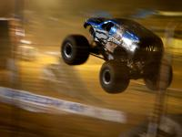 Bounty Hunter Monster Truck Flying : Dixie Speedway Track : Georgia