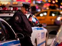 Cops wait for orders to move against the Occupy Demonstration : Times Sq : NYC