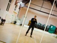 Alone in the Church Hall in Knee Pads : Hampstead : London