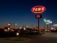 Pawn Shop at Dusk : i35 : Texas