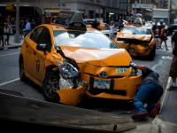 Taxi Crash : 52nd St and 7th Ave : NYC