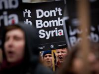 Dont Bomb Syria Demo : Whitehall : London