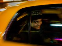 Amin hits the road in a big yellow Taxi : 23rd and 8th Av ; NYC