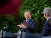Bush Blair Final Show #2 : White House Rose Garden DC