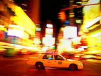 Taxi Times Square : Midnight : NYC