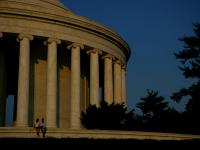 The Writing on the Golden Wall : Jefferson Memorial DC
