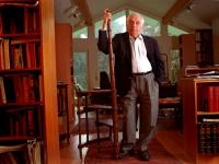 Bernard Lewis in his Library  : Princetown : NJ