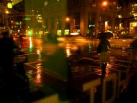 Umbrella Girl in the Rain : 7th and 23rd : NYC