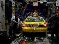Taxi Wash : secret life of Taxis #7 : 3-14AM off the Westside Highway NYC