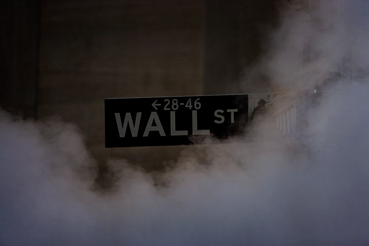 Fires Rage On Wall Street : Wall St : NYC