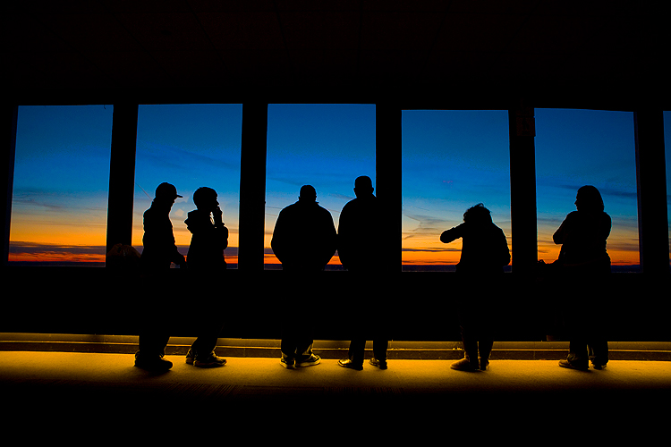 Sunset Sky Walk Observatory Prudential Tower : 52 floors up :  Boston