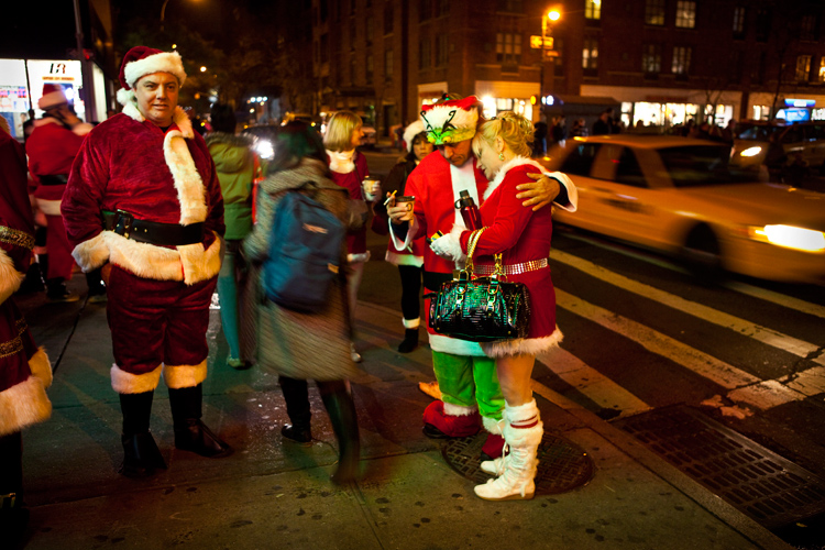 End of the Day SantaCon : West Village : New York City