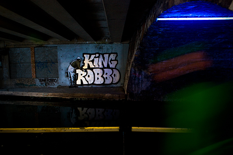King Robbo is Down - Crew Appeals to Bansksy : Regents Canal : Camden London