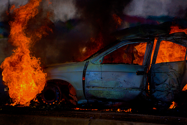 Burning Issues in Trinidad : Vehicle Fire : Trinidad