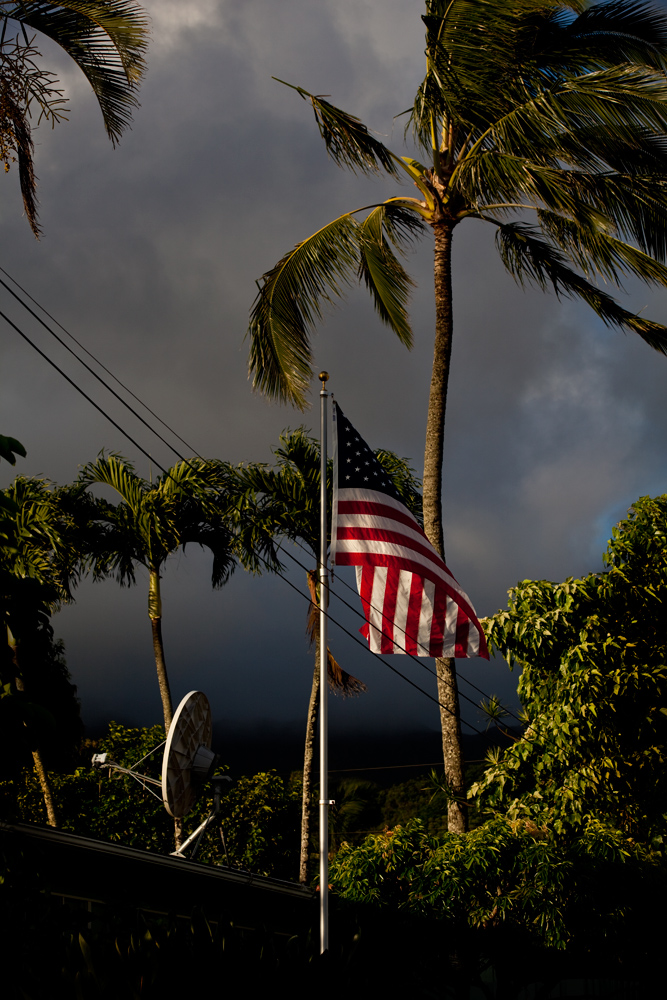Dawn Flag : Waimanalo District : Oahu Hawaii