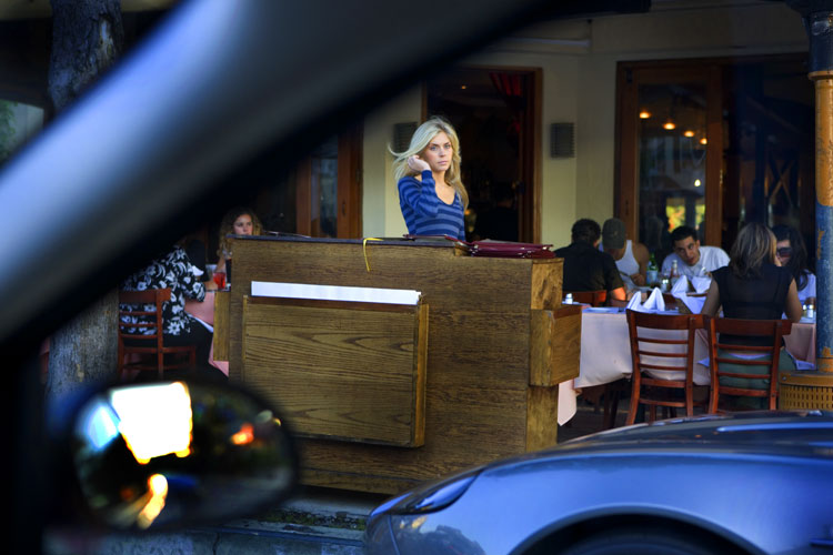 Of course the waitress is a film star it's Hollywood : LA California