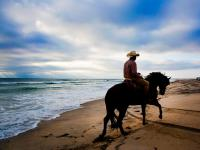 Riders and Border Guards :  Beach Close to the Mexican Border: CA